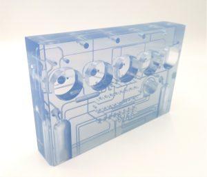 SLA microfluidic plate